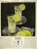 1929 Sunkist Lemons Ad ~ Refreshing Lemonade