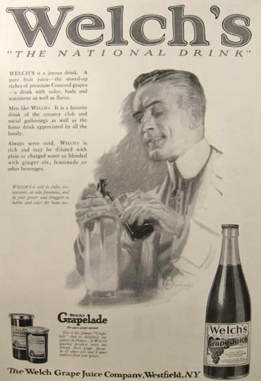 1920 Welch's Grape Juice Ad ~ William Oberhardt