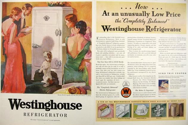 1931 Westinghouse Refrigerator Ad Wire Fox Terrier