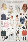 1918 Betty Bonnet Goes to a Wedding ~ Page & Flower Girl Paper Dolls