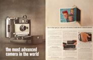 1963 Polaroid Color Pack Camera Ad ~ Most Advanced Camera
