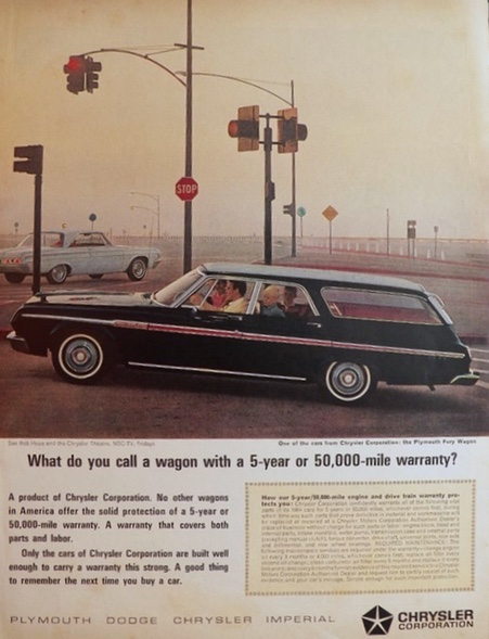 1964 Plymouth Fury Station Wagon Ad