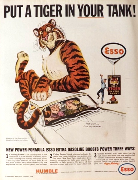1964 Esso Ad ~ Put a Tiger in Your Tank