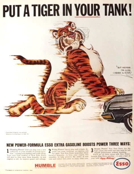 1964 Esso Ad ~ Tiger in Your Tank ~ I Heard a Roar