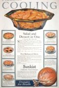 1918 Sunkist Oranges Ad ~ Salad & Dessert in One