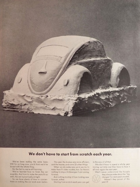 1964 Volkswagen VW Beetle Ad ~ Start From Scratch