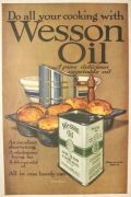 1919 Wesson Oil Ad ~ Linn Ball Art