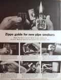 1964 Zippo Lighter Ad ~ Guide for Pipe Smokers