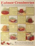 1929 Eatmor Cranberries Ad with Recipes