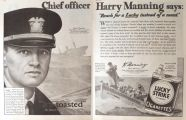 1929 Lucky Strike Ad ~ S.S. America Captain Manning