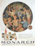 1930 Monarch Food Ad ~ Eugene Iverd ~ Young Boys Work Out