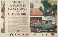 1929 Oldsmobile Sedan Ad ~ A Place in Every Garage