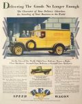 1929 Reo Speed Wagon Ad ~ D.J. Healy Shops Truck