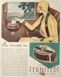 1929 Ternstedt Automobile Fittings Ad ~ Vanity & Smoking Cases