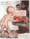 1930 Timken Bearings ~ Baby with License Plate ~ Leyendecker?