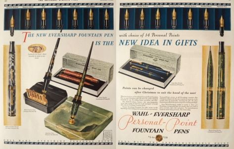 1929 Eversharp Fountain Pen & Desk Set Ad