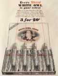 1929 White Owl Cigars Ad ~ Every Third is Your Velvet