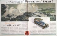 1930 Willys Six Ad ~ A Torrent of Power