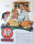 1929 A&P Stores Ad ~ Where Economy Rules