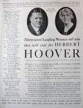 1928 Political Ad ~ Women Say Vote for Hoover