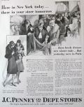 1929 J.C. Penney Stores Ad ~ In NY Today, In Your Store Tomorrow