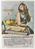1918 Adams Chewing Gum Ad ~ Ruth St. Denis