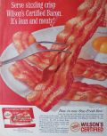 1963 Wilson's Certified Bacon Ad ~ Lean & Meaty