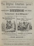 1882 Antique American Lever Cufflinks Ad ~ Non-Separable