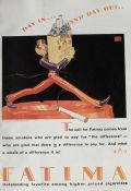 1928 Fatima Cigarettes Ad ~ Robert Lawson Art