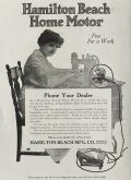 1919 Hamilton Beach Electric Home Motor Ad
