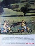 1965 Vintage Honda Trail 90 Motorcycle Ad ~ The Nicest People