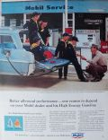 1964 Mobil Gas Ad ~ Cub Scouts at Vintage Pump