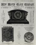 1886 Antique New Haven Clock Co. Ad