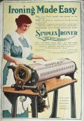 1919 Simplex Iron Ad ~ Ironing Made Easy