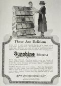 1918 Sunshine Biscuits Ad ~ Vintage Display Rack