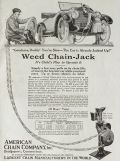 1919 Weed Chain Car Jack Ad