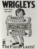 1919 Wrigley's Gum Ad ~ Child Holds Large Gum Packs