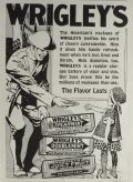 1918 Wrigley's Gum Ad ~ Soldier Offers Gum to Child