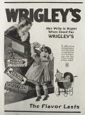 1918 Wrigley's Gum Ad ~ Her Mite Is Right