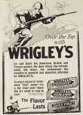 1918 WWI Wrigley's Gum Ad ~ Over the Top