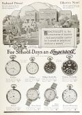 1926 Ingersoll Watch Ad ~ For School Days