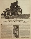 1913 Stewart Motorcycle Speedometer Ad ~ Gil Spear Art