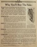 1913 Antique Yale Motorcycle Ad