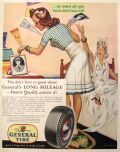 1941 General Tires Ad ~ Robert Reid Pinup Style Art