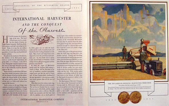 1931 International Harvester McCormick Deering Thresher ~ Reaper Centennial
