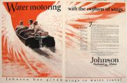 1928 Vintage Johnson Outboard Motor Ad ~ Swiftness of Wings