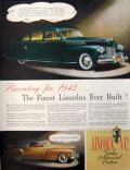 1942 Lincoln Continental & Zephyr Ad