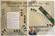 1931 Vintage MacGregor Golf Clubs Ad ~ For Every Man, Woman, & Child