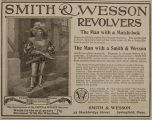 1905 Smith & Wesson Revolver Ad ~ Man with a Match-Lock