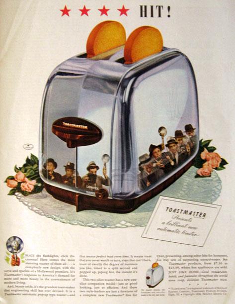 1939 Vintage Toastmaster Toaster Ad 4 Star Hit Vintage